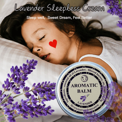 Lavender Sleepless Cream Improve Sleep Soothe Mood Aromatic Balm Insomnia Relax