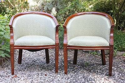 Pair of Antique Tub Chairs