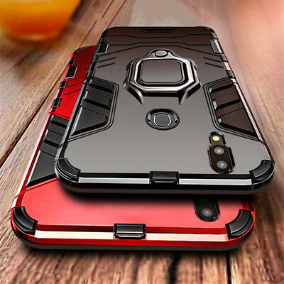 For Huawei P Smart 2019 Honor 10 Lite Play Magnetic Ring Holder Armor Case Cover