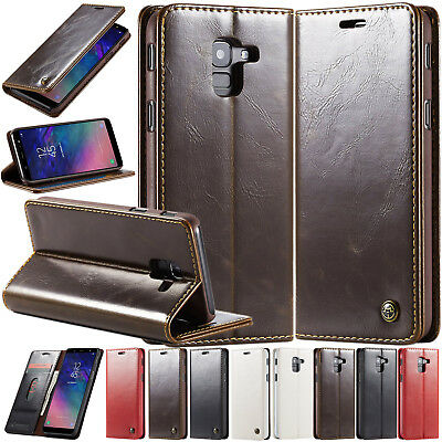 Deluxe Folding Leather Case Stand Skin Cover For Samsung Galaxy J6 A7 A8 A9 2018