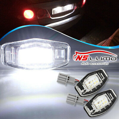 2x 18 LED License Plate Light Direct Fit For Acura TL TSX MDX Honda Civic Accord