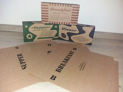 US Army K ration. Late war. Breakfast, Supper and Dinner. 12 sets One set 6 pcs