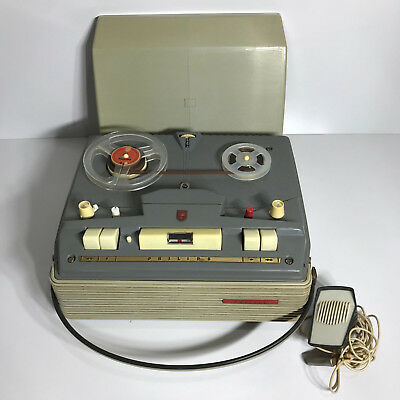 RETRO Vintage Phillips Reel To Reel Tape recorder player 4 Track 2 Coil 1960s