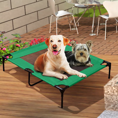 PaWz Heavy Duty Pet Dog Bed Trampoline Hammock Canvas Cat Puppy Cover GREEN XL