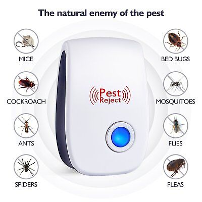 Mouse Killer Ultrasonic Electronic Mosquito Cockroach Pest Repeller Bug Traps