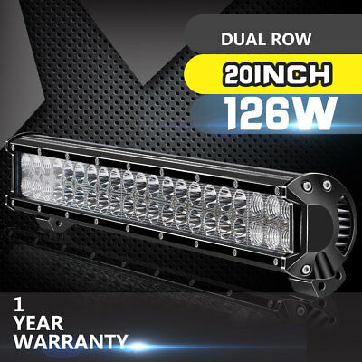 20inch Straight Offroad Led Light Bar Combo Work Offroad Driving Jeep SUV ATV