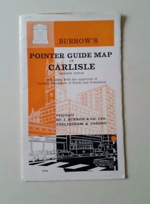 Vintage Burrows Pointer Guide Map Of Carlisle     O4