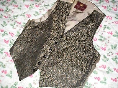 Amazing Vintage  Dunn And Co (Silk?) Waistcoat 36 Inch Chest Super Condition