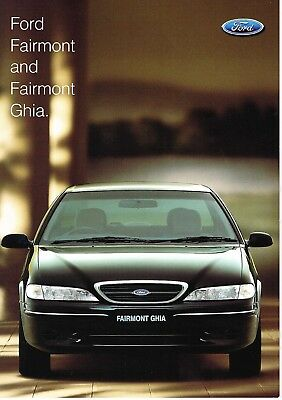 Ford Fairmont & Ghia El Booklet 10 1997 Brochure Fcl 6623 Good Condition