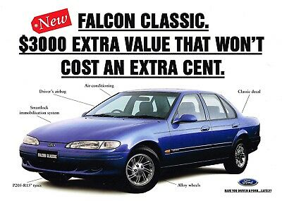 Ford Falcon Ef Classic 11 1995 Brochure Sheet Fcl 6138 Excellent Condition