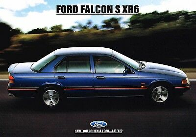 Ford Falcon S Xr6 Release Sheet 9 1992  Brochure Excellent Condition