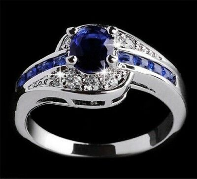 Beautiful pretty fashion Wedding ring Party White gold color silver plated NICE