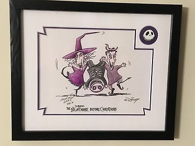 Nightmare Before Christmas Lock, Stock And Barrel Disney Sketch And Pin