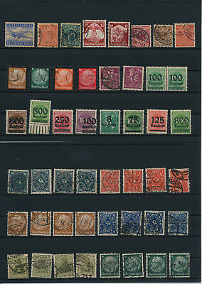 Germany, Deutsches Reich, Nazi, liquidation collection, stamps, Lot,used (KA 27)