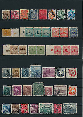 Germany, Deutsches Reich, Nazi, liquidation collection, stamps, Lot,used (AE 31)