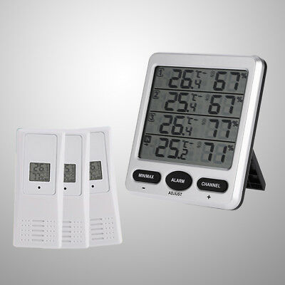 1pc Outdoor Thermometer Hygrometer with 3 Sensors for Wine Cellar Farm Baby Room