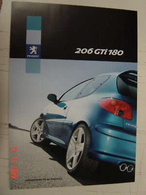 PEUGEOT 206 GTi 180 PAMPHLET BROCHURE 8 2003  AUSTRALIA EXCELLENT CONDITION