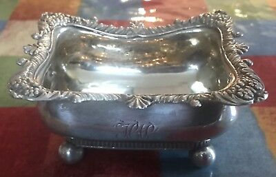 1815 George III Sterling Silver Salt Butter Dish By Joseph Craddock & Reid
