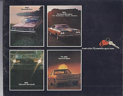 1969 Plymouth Full Line Sales Brochure Road Runner Barracuda Fury Valiant