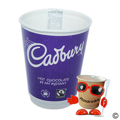 Cadbury Hot Chocolate 2Go In Cup Drinks, 12oz Foil Sealed [1 Sleeve of 10 Cups]