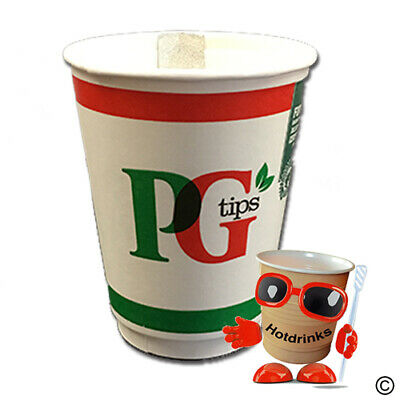 PG Tips 'Tag & Bag' 2Go In Cup Drinks, 12oz Foil Sealed [1 Sleeve of 10 Cups]
