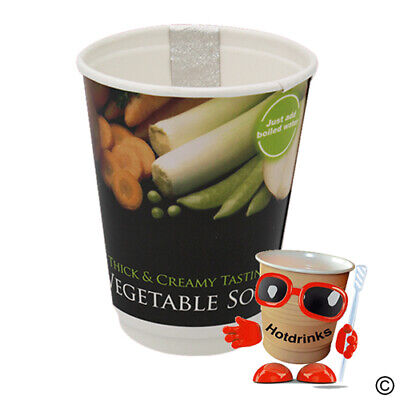 Vegetable Soup 2Go In Cup, Incup Drinks, 12oz Foil Sealed [1 Sleeve of 10 Cups]