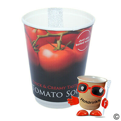 Tomato Soup 2Go In Cup, Incup Drinks, 12oz Foil Sealed [1 Sleeve of 10 Cups]