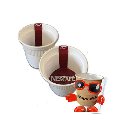 Nescafe Coffee White In Cup, Incup Drinks, 76mm Foil Sealed [Sleeve of 20 Cups]