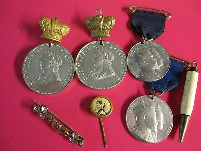 Joblot of Victorian / Edwardian Medals and assorted items