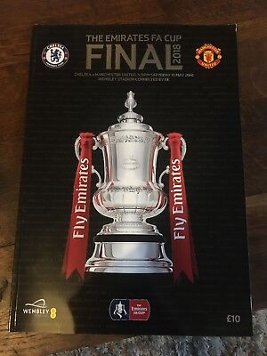 Chelsea v Manchester United The Emirates FA Cup Final Programme 19 May 2018