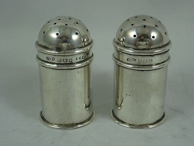 PAIR, solid silver PEPPERS, 1909, 38gm