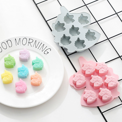 Unicorn Cake Jelly Cookies Soap Mold Chocolate Baking Mould Tray Wax Ice Cube