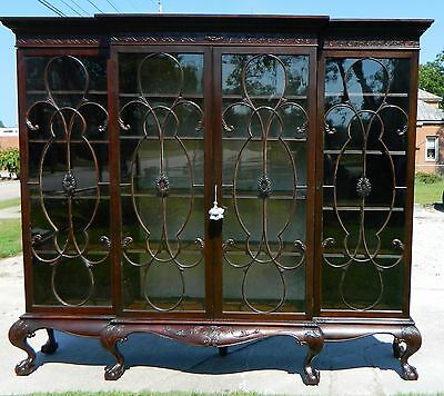 Mahogany Georgian Bookcase 19th Century~~Original Glass