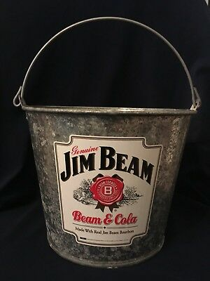 Jim Beam And Cola Metal Bucket With Handle
