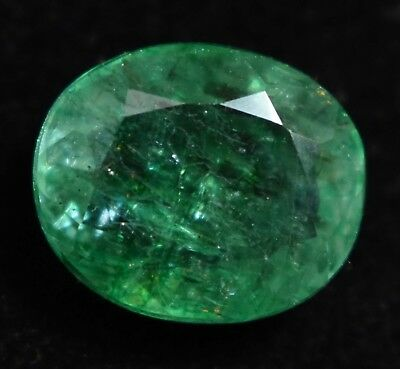 5.75 Ct Natural Green Zambia Emerald AGSL Certified Oval Loose Gem Stone