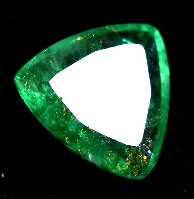 4.60 Ct Natural Green Trillion  Emerald AGSL Certified Loose Gem Stone From Muzo