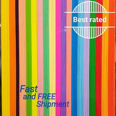 New 500 Strips 3mm Quilling Paper 110GSM  multicolor 19 colors