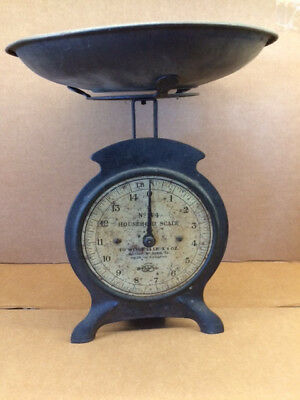 Antique No.44 Salter Household Scale (14 lbs capacity) Made in England