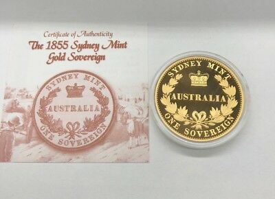 2005 Cook Islands 1oz Silver Proof Coin. The 1855 Sydney Mint Gold Sovereign