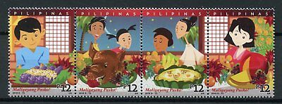 Philippines 2018 MNH Christmas Pasko 4v Strip Gastronomy Foods Cultures Stamps