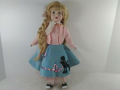 """1950's """"SOCK HOP TEENAGE DOLL WITH POODLE SKIRT AND  Saddle Shoes 16''"""