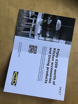 Ikea £200 voucher for Kitchen accessories, cookware, dining furniture