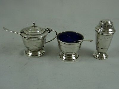 ART DECO silver CONDIMENT SET, 1937