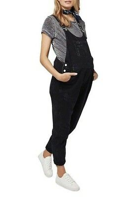 Topshop Black Maternity Moto Overall Size 8