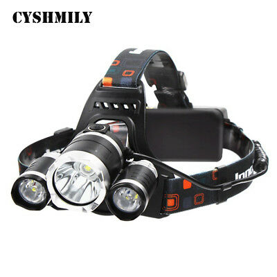 UK 12000LM 3 x XML CREE T6 LED Rechargeable Head Torch Headlamp Light Lamp UK