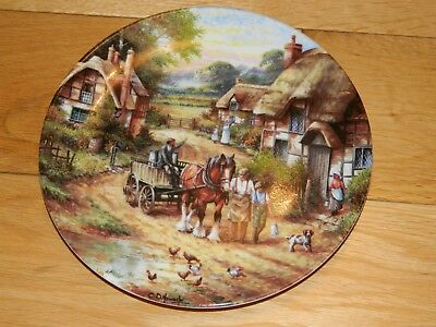 Wedgwood Country Days 'early Morning Milk'  Collectors' Plate In Fine Bone China