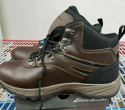 4a7f32d7b5a25 EDDIE BAUER EVERETT MEN S HIKING BOOTS LEATHER CUSHIONED INSOLE BROWN size  10.5