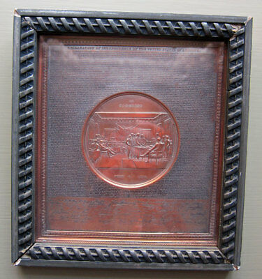 Declaration Of Independence -- S&h Black 1859 Copper Plate - Nice Example