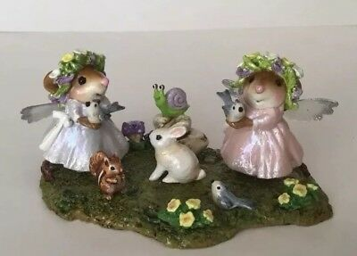 Wee Forest Folk ~**ONE OF A KIND* ~ OOAK~ FAIRIES HOLDING BIRDS  Special Event