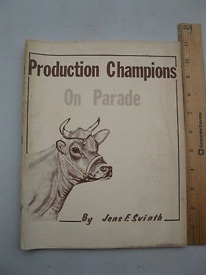 1959 Production Champions On Parade (Jersey Cow, Butterfat, Milk, Pedigree)